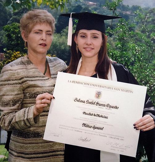 foto juliana y mama